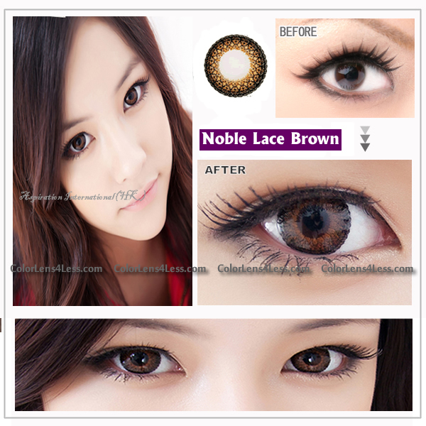 EOS Lace Brown Colored Contacts (PAIR)